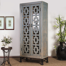 antique beijing furniture classic tall euro style reclaimed wood carved storage cabinet