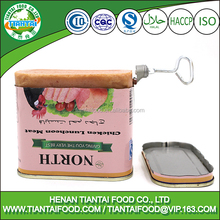 import china goods halal canned chicken luncheon meat