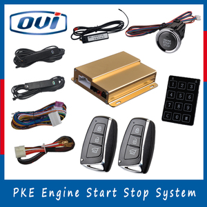 Universal car alarm system smart key engine start stop keyless entry push button start with anti-hijacking function