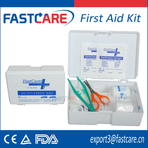 CE approved plastic auto first aid kit