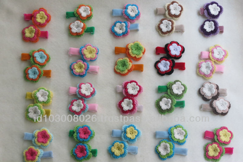 flower crochet hair clip