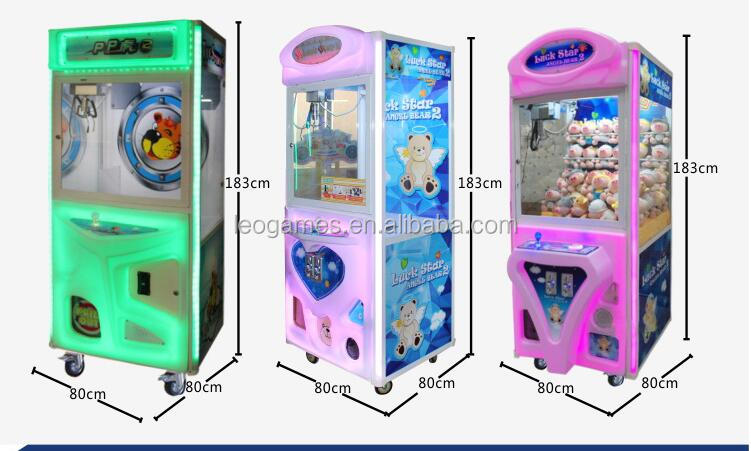 PP tiger coin operated candy machine toy crane claw machine for sale