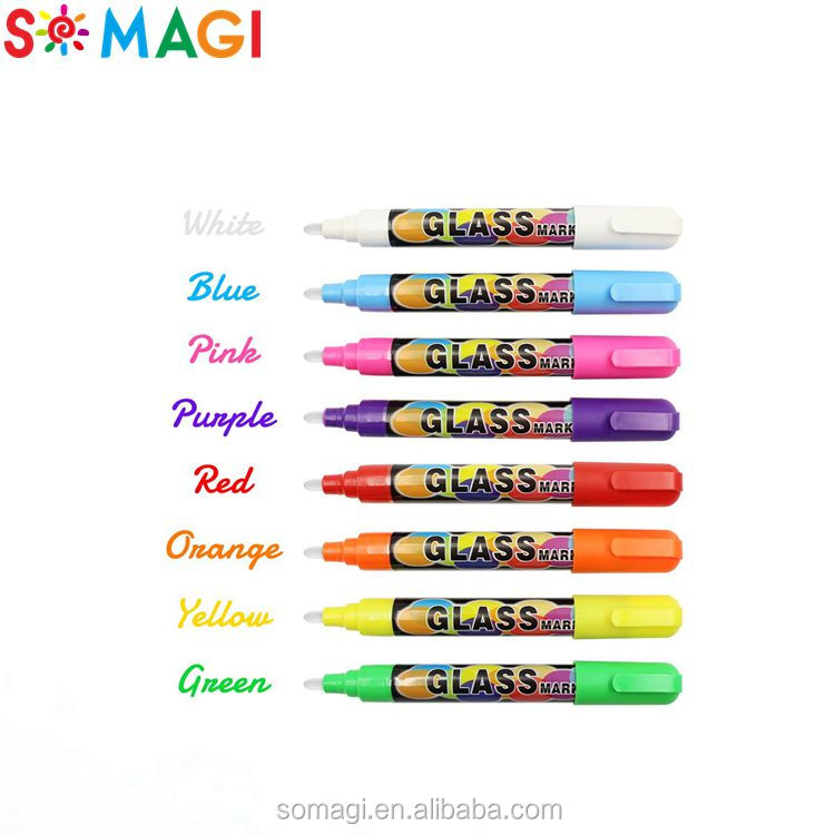Kids Paint marker pen sales 3/6/8/10/15mm tips imported ink car painting liquid chalk markers 8-19colors 2017 unique markers