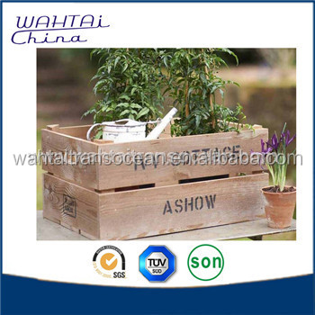 Cheap Wooden Flower Containers Wooden Pots and Planters Wooden Gardening Pots