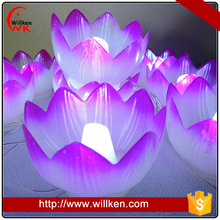 India white color led diwail gift decorative lotus lights wholesale