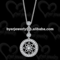 silver dharma chakra pendant for ladies with low price