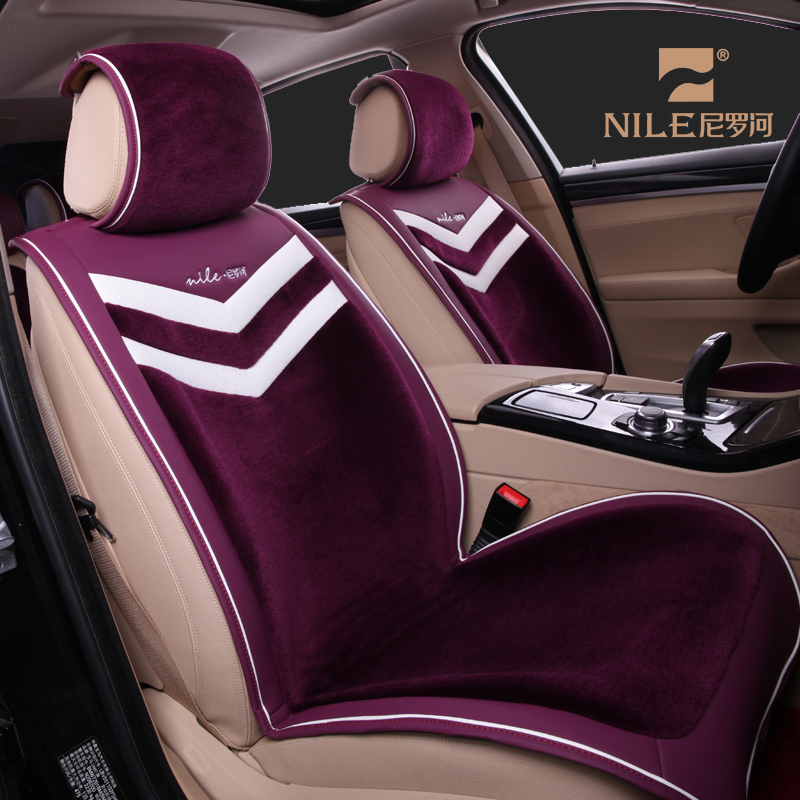Popular different colors sheepskin wool car seat covers for toyota allion
