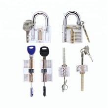 6 in 1 Practice Lock Set , Visible Cutaway of 6 Most Common Lock Types,For Locksmith Training Lock Pick Set