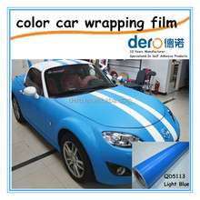 Dero waterproof matt vinyl film removeable and flexible car wrapping film