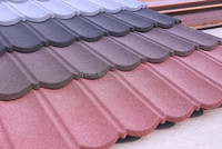 stone coated metal roofing tile/color steel sheet roof tile used in masonry buildings