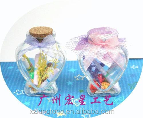 Clear Glass Bottles Message Wishing Bottles Makeup Cosmetic Sample Bottles Jar Essential Oils Vial Container With Alumin