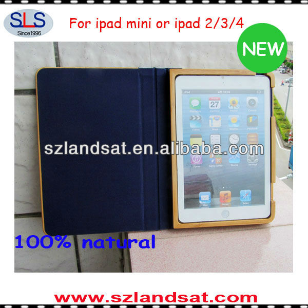 2015 new product for ipad mini case wooden IBC07A