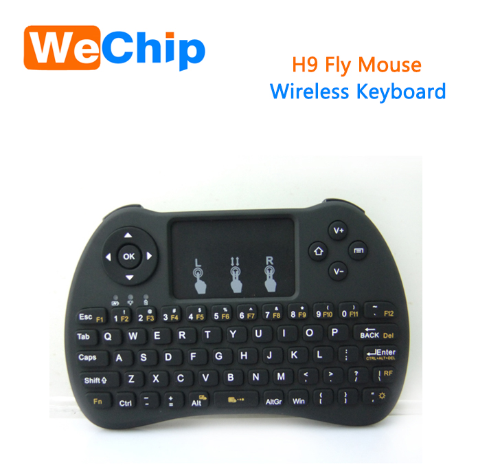Hottest Wechip H9 TV remote control new 2.4G wireless mini keyboard and Fly mouse Touchpad for PC Android TV