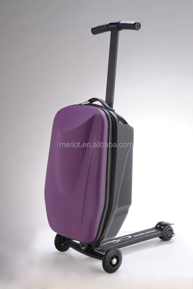 2017 New products High Quality trolley luggage suitcases luggage scooter for travel