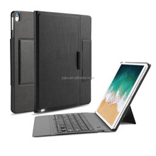 For New iPad Pro 10.5 Inch 2017 Released Bluetooth Keyboard Portfolio Case with Stand, PU Leather