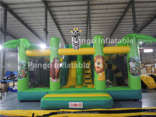 inflatable jungle pvc jumping castle/jungle adventure toys for sale