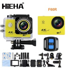 Hieha Wifi action camera 4k F60R 2.0 LCD 30M Waterproof 1080p action cam 4k with remoter