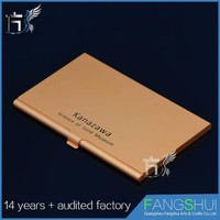 Aluminum wallet rfid water resistant card holder cheap wholesale