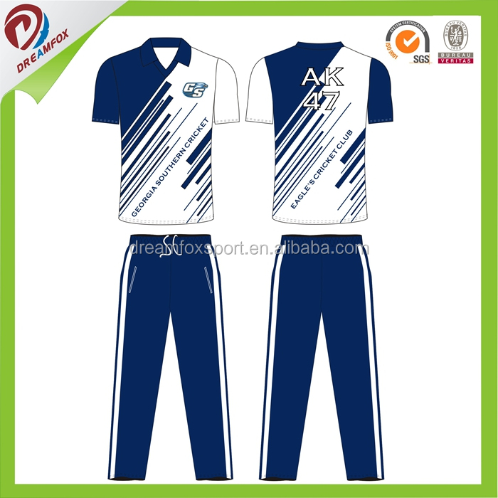 high quality sublimation custom australian cricket team jersey designs