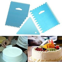 3Pcs/set Aluminum Dough Icing Fondant Scraper Cake Decorating Baking Pastry Tools Plain Smooth