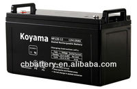 China Manufacturing mos reliable AGM battery 12V120AH Maintenance free dry accumulator battery