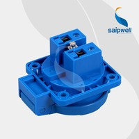 saip/saipwell IP44 16A 230V solar powered portable power socket industrial plug & socket