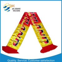 OEM fashion football club scarf supplier in China