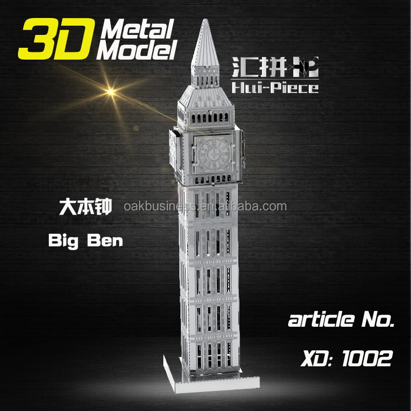 Hot sell educational toys Nano architecture 3D Puzzle metal earth models for Adult kids
