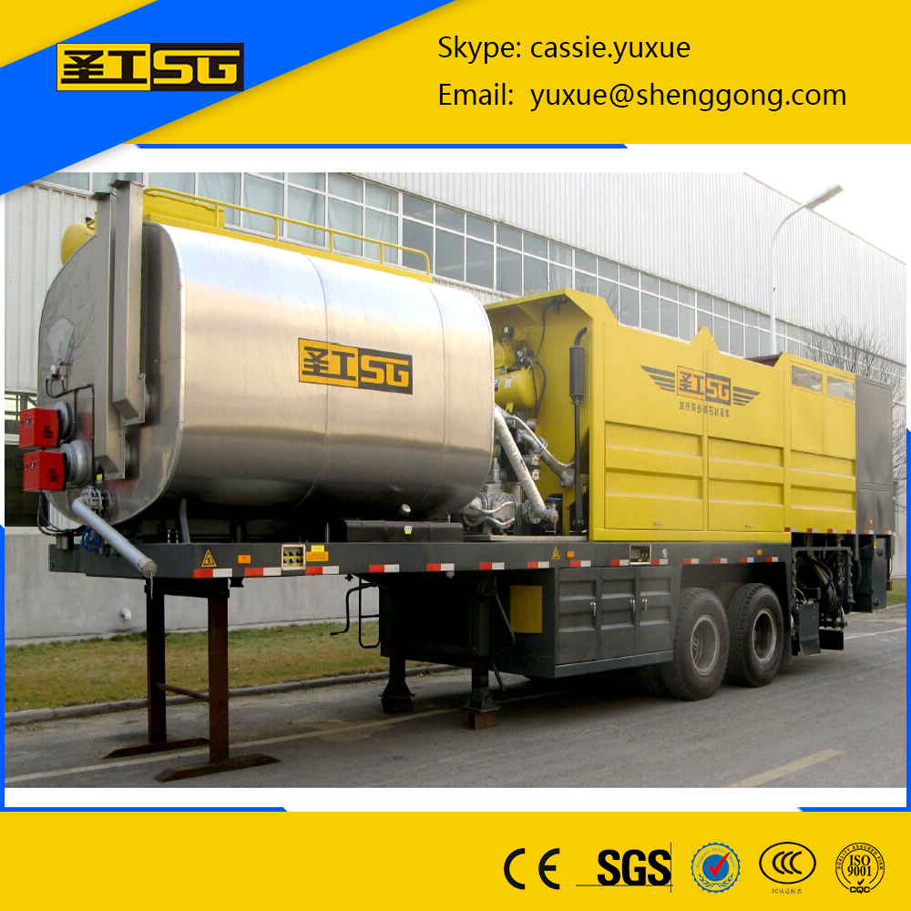 Road Sealing Machine,Without Chassis Synchronous Chip Sealer /Chip Spreader,Sealer for chips and asphalt