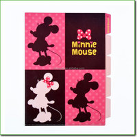 Custom high class luxury 5 pockets document file folder & Manufacturing 5 index card file folders with minnie mouse printing