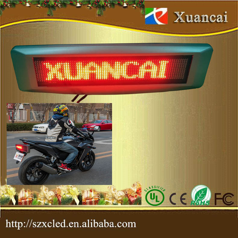 LED motorcycle display screen 12(H)x72(L) dots SMD smart phone bluetooth programe led sign