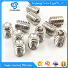Customized stainless steel set screw with cup point