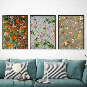 Yes original flower panels prints painting wall art