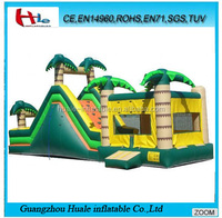 Used commercial inflatable bounce house,inflatable slide for sale