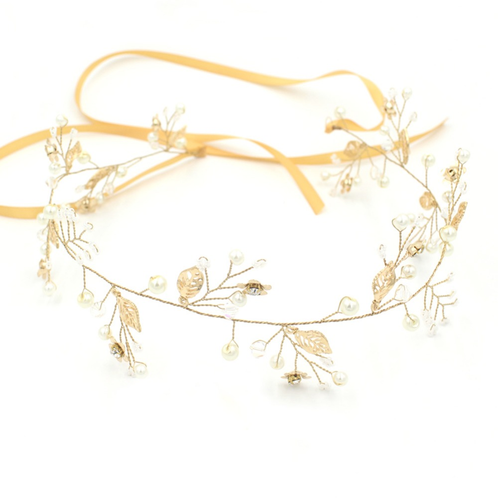 2017 Wholesale Golden Leaf Vines Women Headband Hot Sale Bridal Hair Accessories