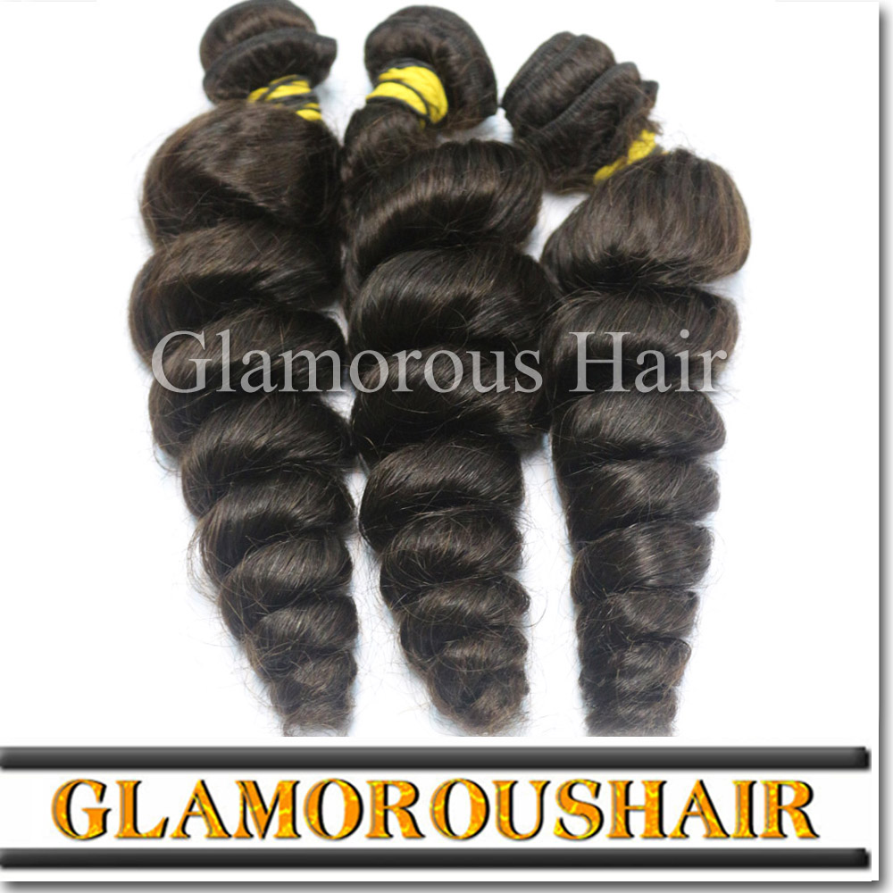 Mongolian Loose Wave Hair Extensions Can Be Dyed Can Be Restyled No Tangle No Shedding 100% Virgin Human Hair