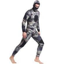 3mm neoprene two-piece fabric printing scuba diving triathlon wetsuit with hoop cap