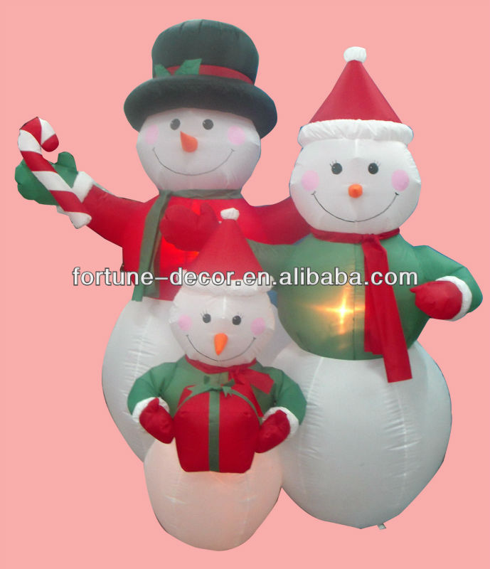 180cmH/6ft inflatable Christmas decoration snowman family