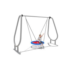 kids outdoor simple swing children rope swing set