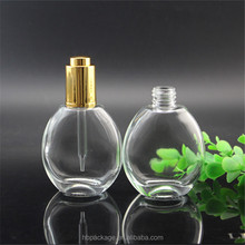 50ml oval flat crystal empty perfume bottle cosmetic glass parfum container