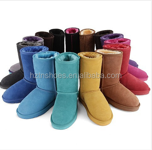 2015 New more brightful color women's snow <strong>boots</strong> warm fur lining winter ankle <strong>boots</strong> for laides