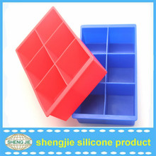 2016 Hot sale wholesale 12 cup square beverage shape silicone ice trays