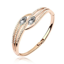 4 Lines Channel Setting Crystal Double Marquis Gold Silver Plated Rings Women Finger Accessories