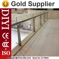DIYI-9902 Project Glass Railing for Shopping mall Office Building Stainless steel Glass Railing Stainless steel Handrail