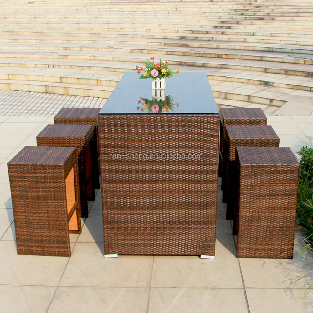 Bar Furniture Bar Stool And Table Specific Use Bar Set For Outdoor Furniture