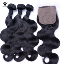 wholesale dropship brazilian virgin human hair extensions body wave,3 bundles hair weaving with lace closure