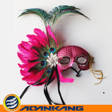 beautiful white feather mask for Easter Day 055