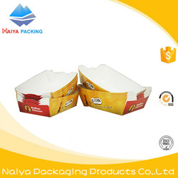 DIY printed logo reliable quality deft design chicken and french fries snack packing paper cup box box