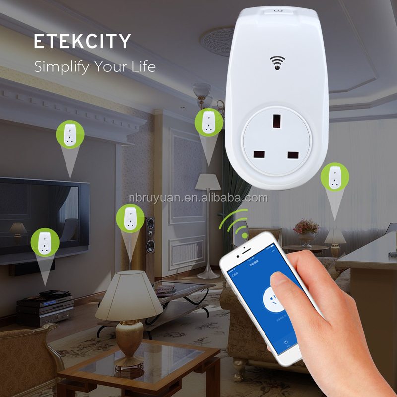 Hot smart home plug socket smart wifi socket plug by Ipad phone control