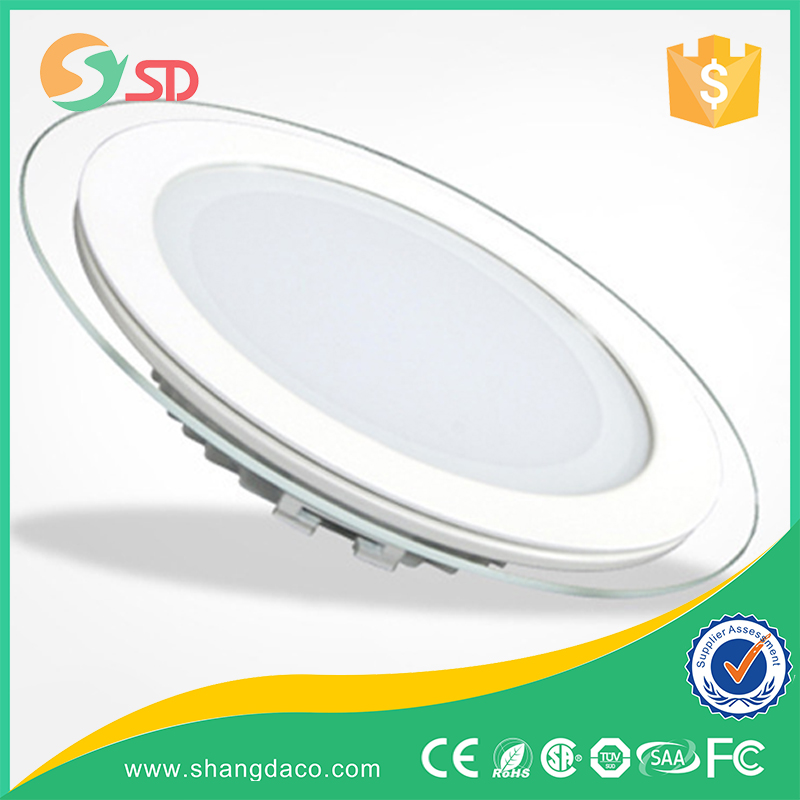 Led Lights Homes Glass Round 12w Led Panel Light Made In China